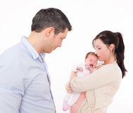 New parents cry baby Stock Image