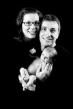 New parents monotone Royalty Free Stock Images