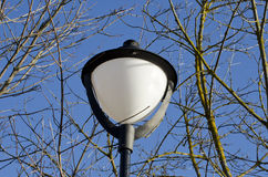 New park lamp on blue sky background Stock Photography