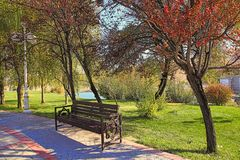 New park in the mountains. Ashkhabad. Turkmenistan.  royalty free stock image