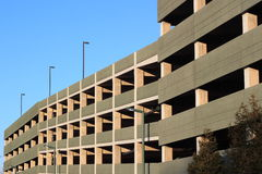 Parking Garage. A multilevel Parking Garage on Blue sky Royalty Free Stock Image