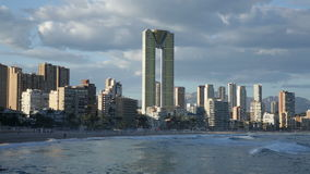 new part of Benidorm stock video footage