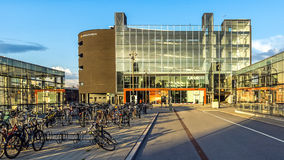 New part of Malmo Central Railway Station. On August 11, 2014 in Malmo, Sweden. The station serves 17 million passengers per year and is the third busiest Royalty Free Stock Images
