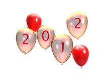 New party 2012. 3d illustration of several balloons with 2012 written on it Stock Image