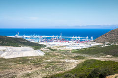 New passenger terminals under construction in Port of Tangier, A Royalty Free Stock Image
