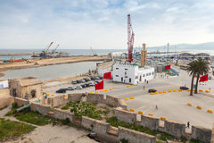 New passenger terminals under construction in Port of Tangier, Africa Stock Photography