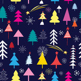 New pattern of Christmas trees Royalty Free Stock Photo