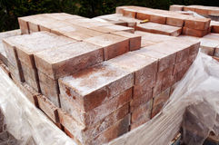 New paver bricks to install Royalty Free Stock Photos