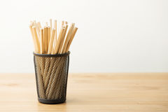 New pencil in pot Stock Images