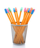 New Pencils in Pencil Cup Stock Photos