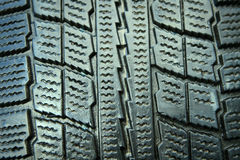 New perfect winter tire closeup Stock Photos