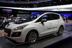 New Peugeot 3008 Hybrid4 Diesel Hybrid Royalty Free Stock Photography