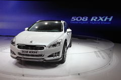 New Peugeot 508 RXH Diesel Hybrid Stock Photos