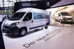 New Peugeot Boxer van Stock Photo