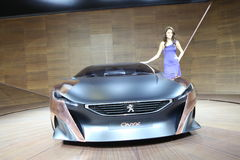 The new Peugeot in Istanbul Autoshow Royalty Free Stock Image
