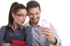 The new phone generation is playing. Stock Photo
