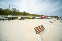 On the new pier Sarafovo in Bulgarian Bourgas Royalty Free Stock Image