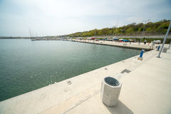 The new pier Sarafovo in Bulgarian Bourgas Royalty Free Stock Photos