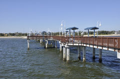 New pier in Waveland, Mississippi royalty free stock photos