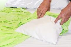 New pillowcase. Royalty Free Stock Image