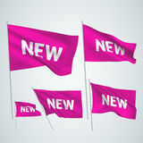 New - pink vector flags Royalty Free Stock Photos