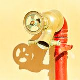 A new pipe and a water faucet Royalty Free Stock Images