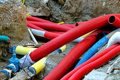 New pipes Stock Photo