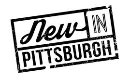 New In Pittsburgh rubber stamp. Grunge design with dust scratches. Effects can be easily removed for a clean, crisp look. Color is easily changed Stock Photo