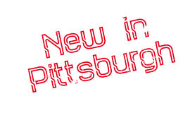 New In Pittsburgh rubber stamp Royalty Free Stock Images
