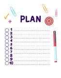 New Plan list Royalty Free Stock Photo