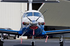 New Plane at Hanger Royalty Free Stock Photos