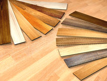 New planks of oak parquet Royalty Free Stock Photo