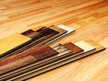 New planks of oak parquet Royalty Free Stock Image