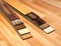 New planks of oak parquet Stock Photo