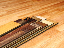 New planks of oak parquet Royalty Free Stock Photography