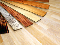 New planks of oak parquet Royalty Free Stock Photo