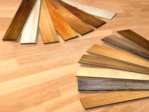 New planks of oak parquet Stock Photos