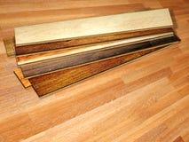 New planks of oak parquet Stock Images
