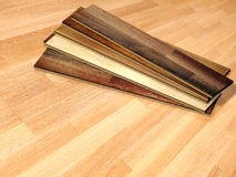 New planks of oak parquet Stock Images