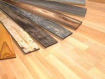 New planks of oak parquet Stock Photography