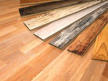 New planks of oak parquet Royalty Free Stock Images
