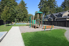 New playground in modern residential area Stock Photos