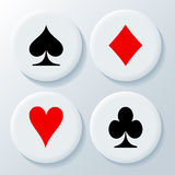 New playing card's signs Royalty Free Stock Photography