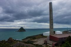 New Plymouth. Is an important industrial and commercial city on New Zealand`s north island and an important port for early settlers Stock Images
