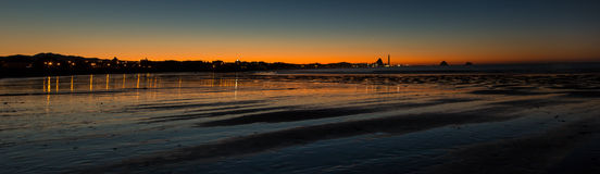 New Plymouth Night Bay Stock Photo