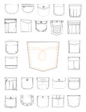New pockets for clothes. Illustration with pockets for pants Royalty Free Stock Image