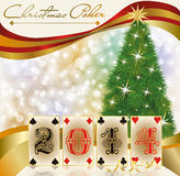 New 2014 poker year greeting card. Vector illustration stock illustration