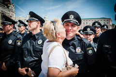 New police patrol took the oath Royalty Free Stock Image