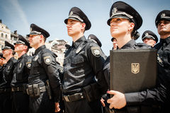 New police patrol took the oath Stock Image