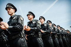 New police patrol took the oath Stock Photo